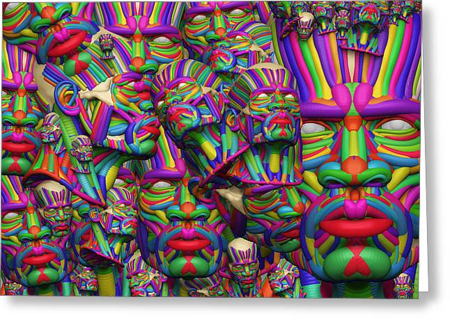 Mixed Race Religions And The Aftermath 33 D Greeting Card by Sir Josef - Social Critic -  Maha Art