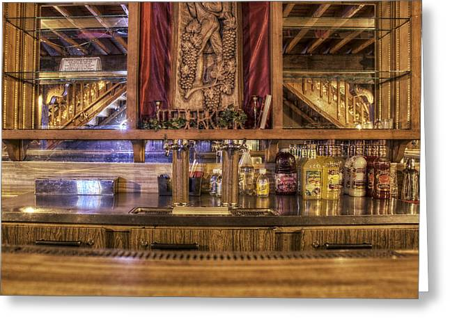 Mixers - A Seat At The Bar Greeting Card by Jason Politte