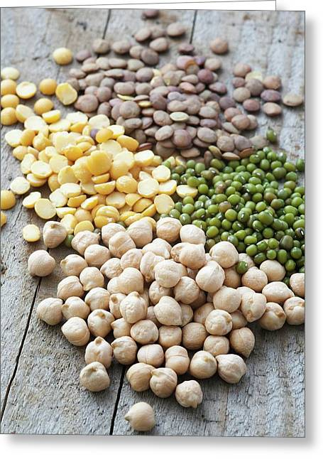 Mixture Of Peas And Lentils Greeting Card