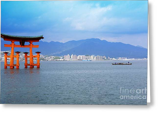 Miyajima Torii Greeting Card by Cassandra Buckley