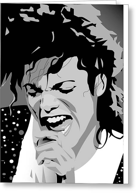 MJ Greeting Card by Jayakrishnan R