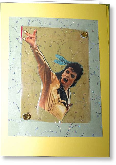 Mj Leave Me Alone Greeting Card