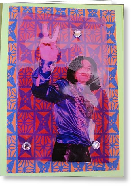 Mj Peace Greeting Card