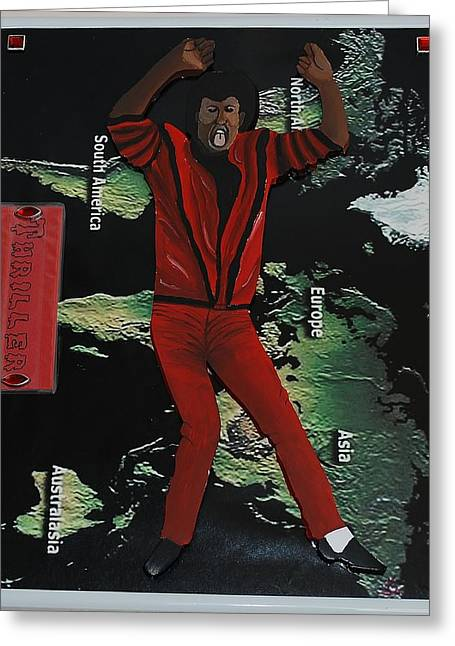 Mj Thriller Greeting Card