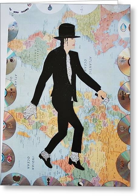 Mj We Are The World Greeting Card