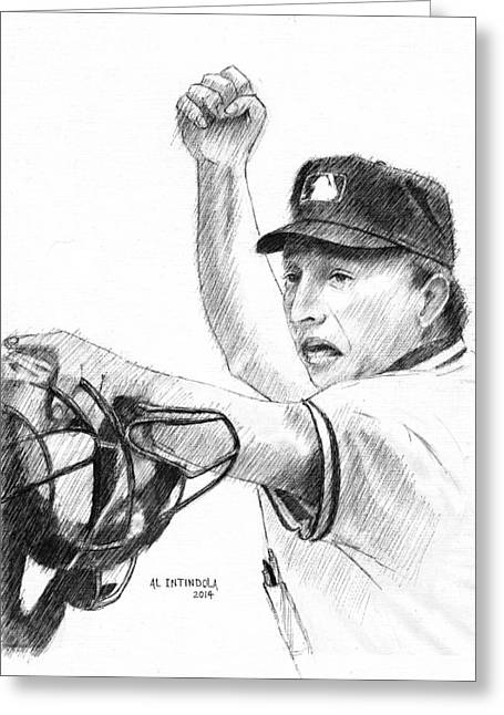 Mlb Umpire  Phil Cuzzi Greeting Card