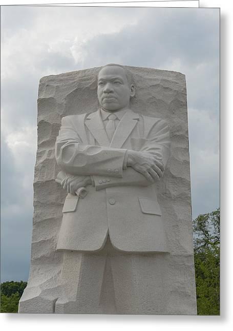 MLK Greeting Card by Brandon Bourdages