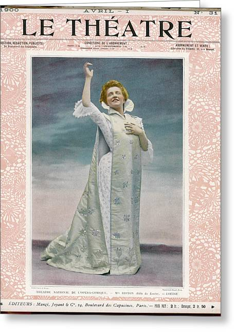 Mlle Greeting Card by Mary Evans Picture Library