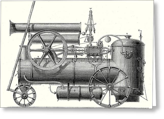 Mm. Cail And Companys Traction Engine Greeting Card