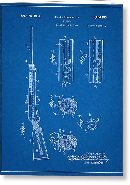 M.m. Johnson Firearm Patent Greeting Card