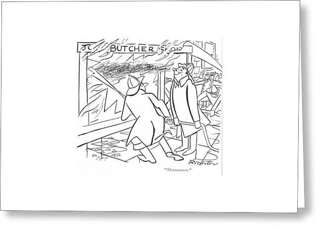 Mmmmmm Greeting Card by Mischa Richter