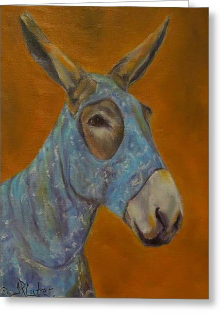 Mo Vision,donkey Greeting Card