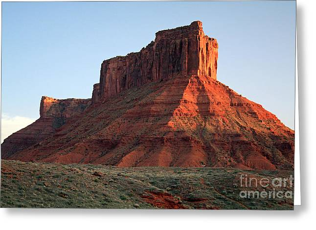 Greeting Card featuring the photograph Moab At Sundown by Edward R Wisell