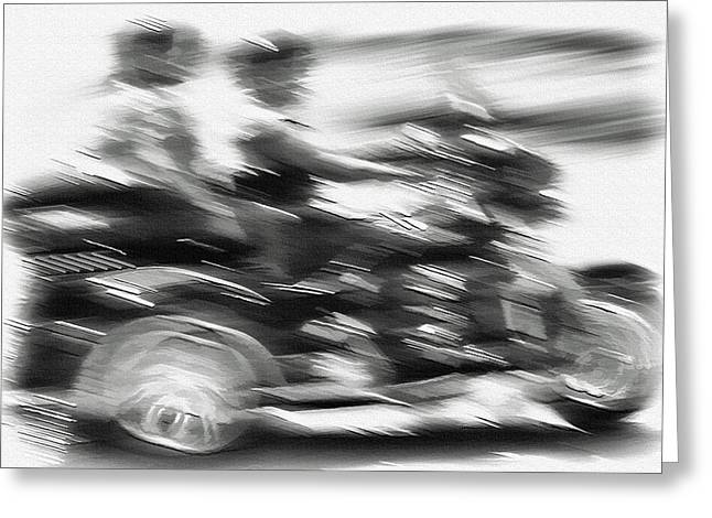 Moab - Cycle For Two Greeting Card by Steve Ohlsen