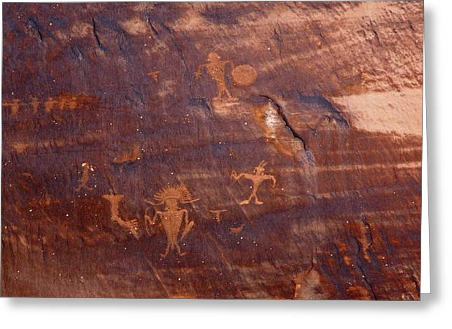 Moab Petroglyph Greeting Card