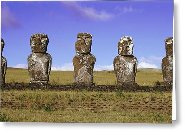 Moai Easter Island Chile Greeting Card