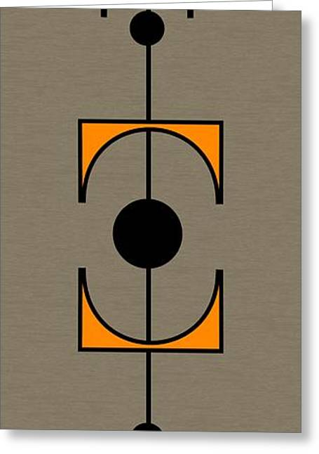 Mobile 1 In Orange Greeting Card by Donna Mibus