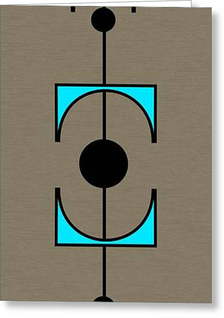 Mobile 1 In Turquoise Greeting Card by Donna Mibus