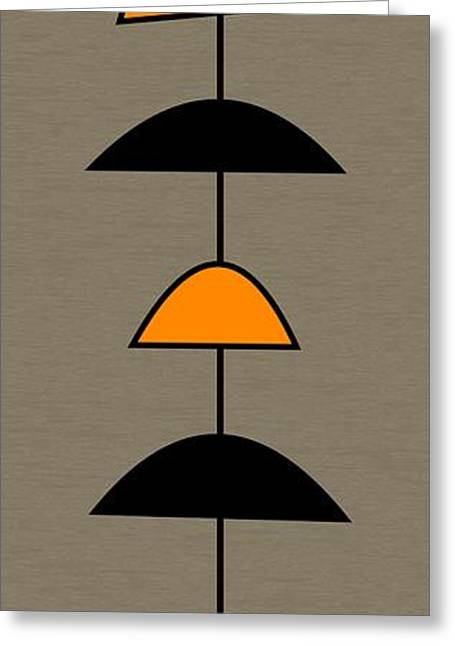 Mobile 2 In Orange Greeting Card by Donna Mibus
