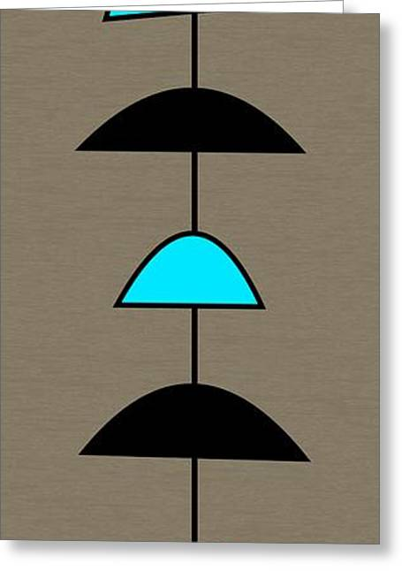 Mobile 2 In Turquoise Greeting Card by Donna Mibus
