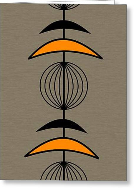 Mobile 3 In Orange Greeting Card by Donna Mibus
