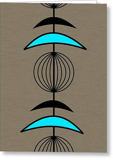 Mobile 3 In Turquoise Greeting Card by Donna Mibus