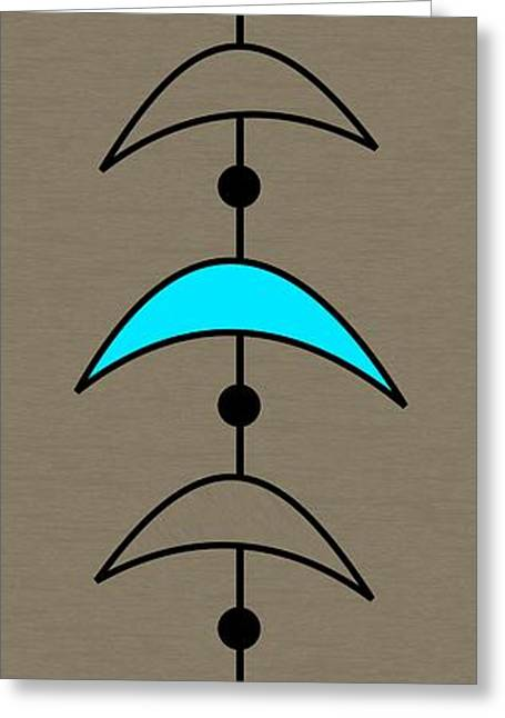 Mobile 4 In Turquoise Greeting Card by Donna Mibus