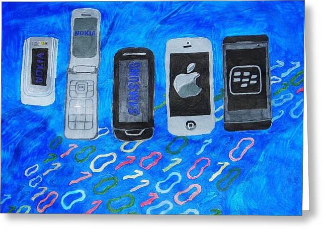 Mobile Evolution Greeting Card by Melissa Nowacki