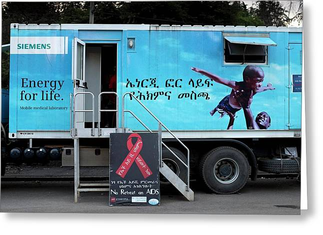 Mobile Health Clinic In Addis Ababa Greeting Card by Tony Camacho