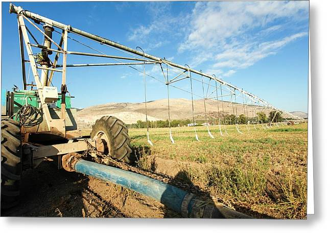 Mobile Irrigation Robot Greeting Card by Photostock-israel