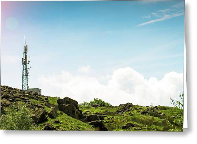 Mobile Phone Mast Greeting Card by Dan Dunkley