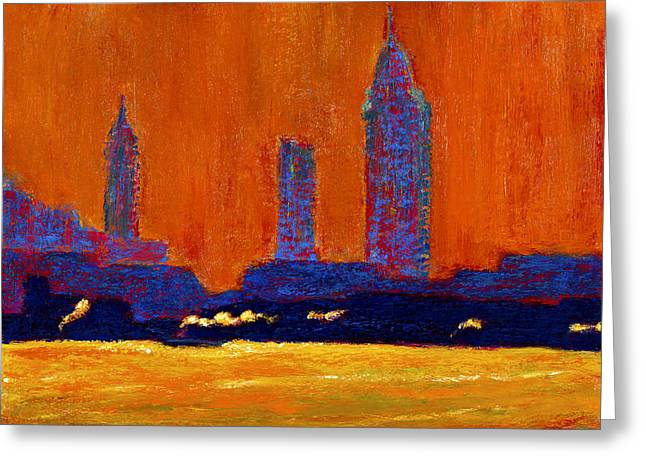 Mobile Skyline August Morning Light Greeting Card