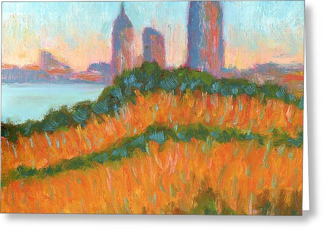 Mobile Skyline From Felixs Greeting Card by Vernon Reinike