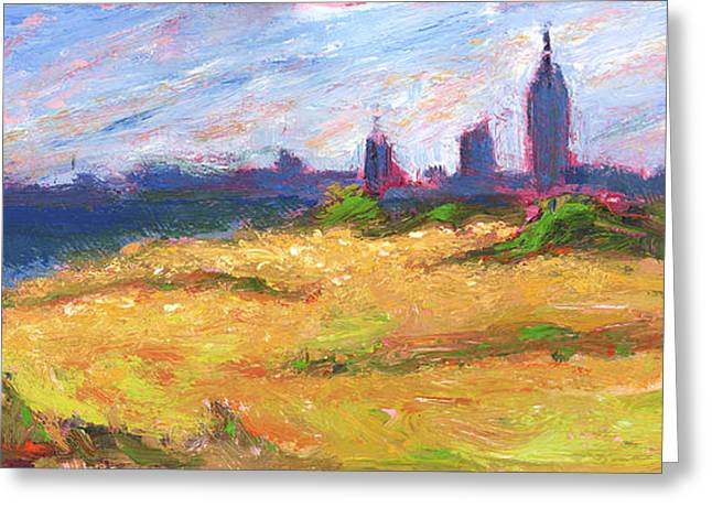 Mobile Skyline From Felixs Windy Day Greeting Card