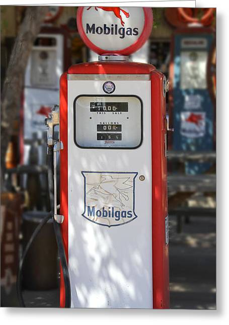 Mobilgas - Tokheim Gas Pump Greeting Card by Mike McGlothlen