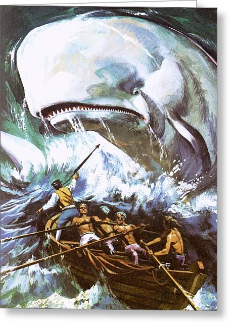 Moby Dick Greeting Card by English School