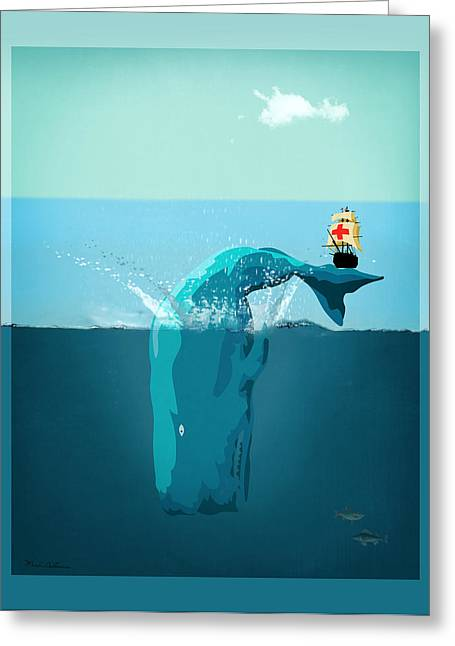 Moby Dick Greeting Card by Mark Ashkenazi