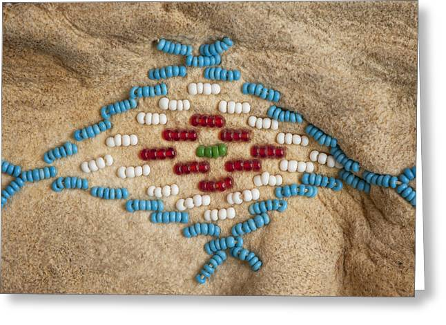 Moccasin Beadwork II Greeting Card by Stephen Anderson