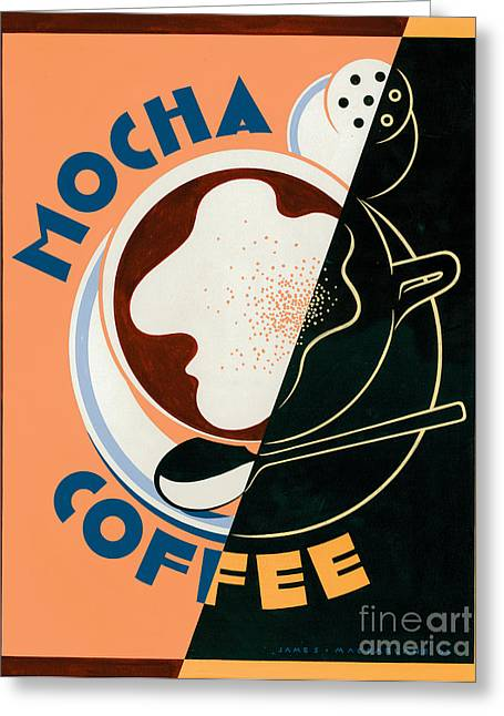 Mocha Coffee Greeting Card