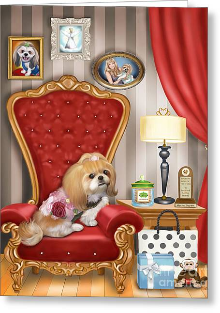 Mocha S Living Room Greeting Card