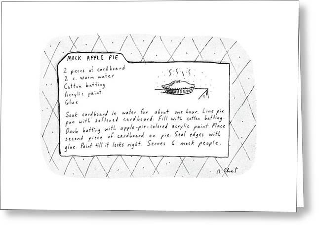 Mock Apple Pie Recipe Greeting Card