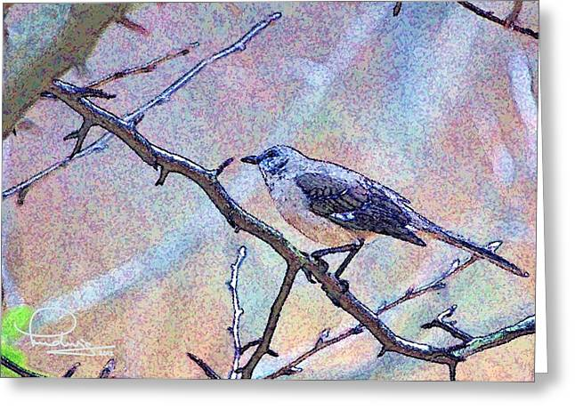 Greeting Card featuring the photograph Mocking Bird by Ludwig Keck