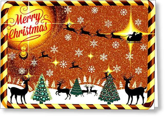 Mod Cards - Reindeer Games - Merry Christmas V Greeting Card