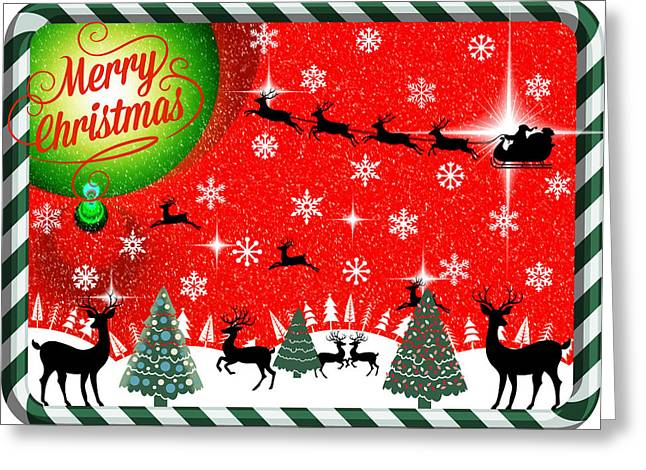 Mod Cards - Reindeer Games - Merry Christmas Greeting Card