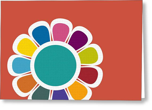 Mod Flower No.2 Greeting Card by Bonnie Bruno