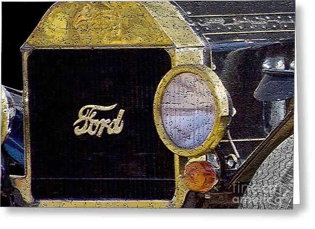 Model A Ford Greeting Card