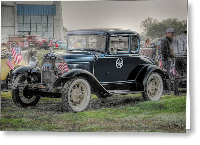 Greeting Card featuring the photograph Model A Ford  by Dyle   Warren