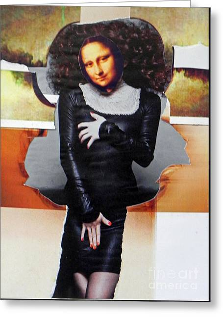 Model Mona Greeting Card