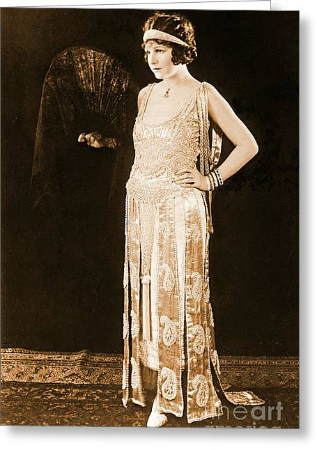 Model Norma Talmadge 1920 Greeting Card by Padre Art