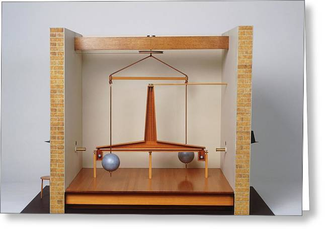 Model Of A Gravitational Experiment Greeting Card by Dorling Kindersley/uig